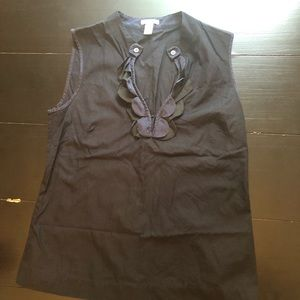 J.Crew Sleeveless Navy Blouse Size 6